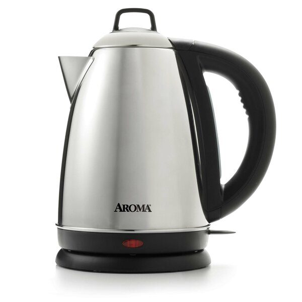 1.5 Liter Stainless Steel Electric Tea Kettle by Aroma