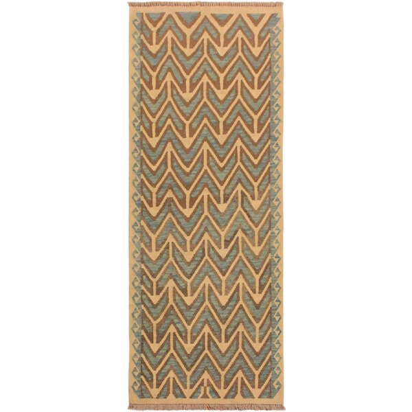 One-of-a-Kind Bakerstown Hand-Woven Ivory/Blue Area Rug by Bloomsbury Market