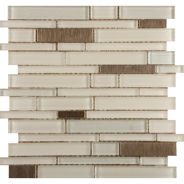 Flash 12 x 13 Glass Linear Mosaic Tile in Beaming by Emser Tile