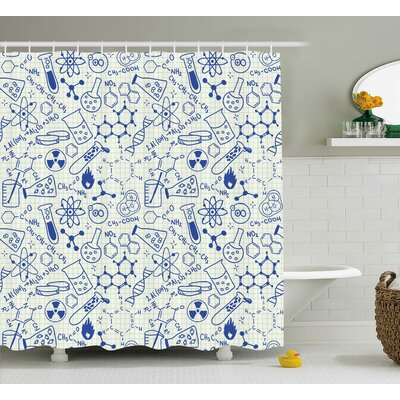 Esteban Geometry Chemistry Theme Shower Curtain