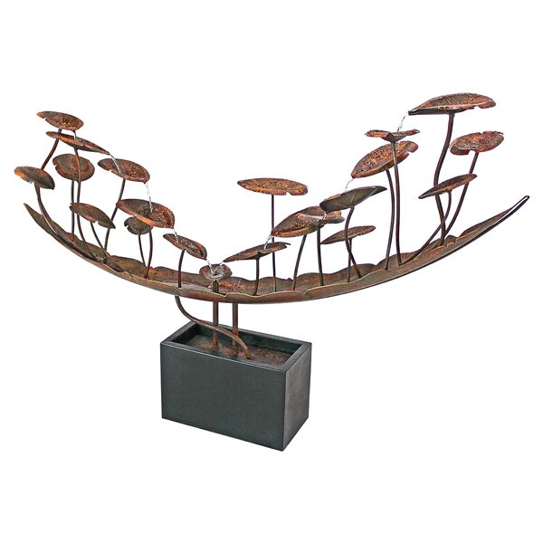 Asian Metal Botanical Cascading Fountain by Wildon Home ®