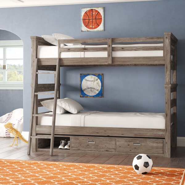 Elise Twin Over Twin Bunk Bed with Storage by Grovelane Teen