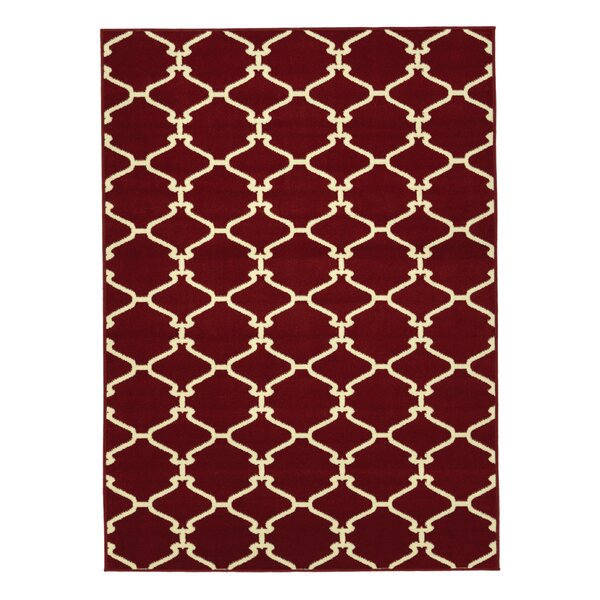 Clifton Red Area Rug by sweet home stores