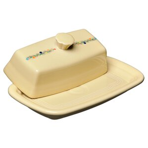 christmas tree covered butter dish