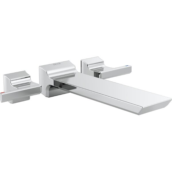 Pivotal Double Handle Wall Mounted Tub Spout Trim By Delta