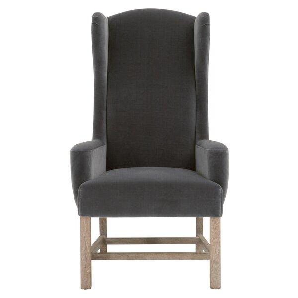 Mallett Cotton Upholstered Arm Chair in Dark Dove by Red Barrel Studio Red Barrel Studio