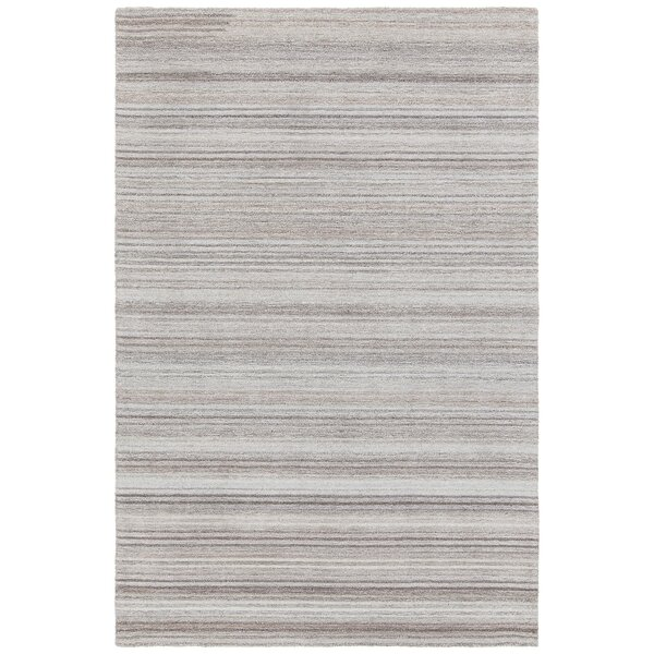 Alhambra Hand-Tufted Gray/Silver Area Rug by Foundry Select