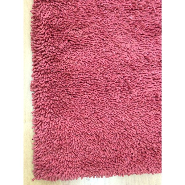 Shag Eyeball Woolen Hand Knotted Claret Wine Red Area Rug by Eastern Weavers