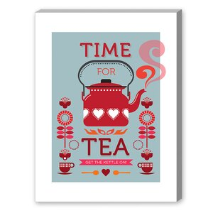 Visual Philosophy Time for Tea Vintage Advertisement on Canvas by Americanflat