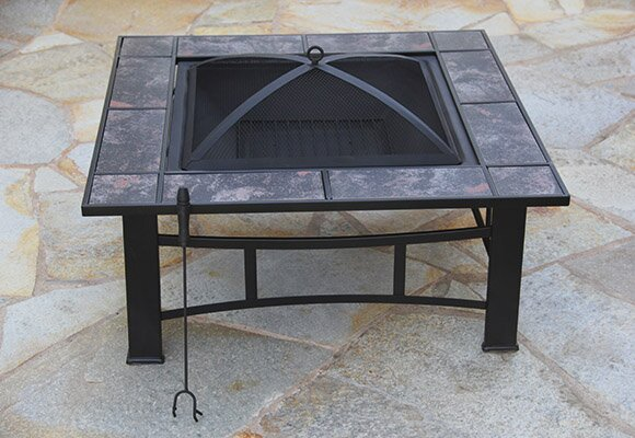 Steel Wood Burning Fire Pit Table by Fire Pit Essentials