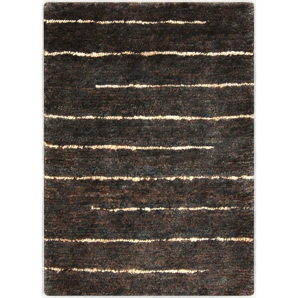 Levi Hand-Woven Black Area Rug by Williston Forge
