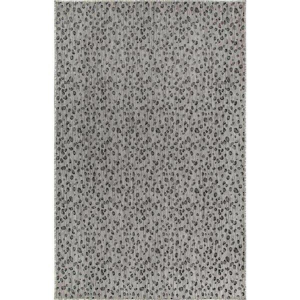 Osman Leopard Gray Indoor/Outdoor Area Rug by World Menagerie