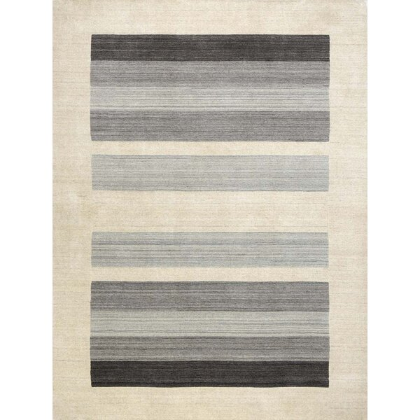 Burk Blend Ivory/Gray Area Rug by Ebern Designs