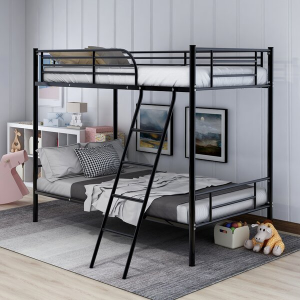 Hooten Metal Twin over Twin Bunk Bed by Harriet Bee