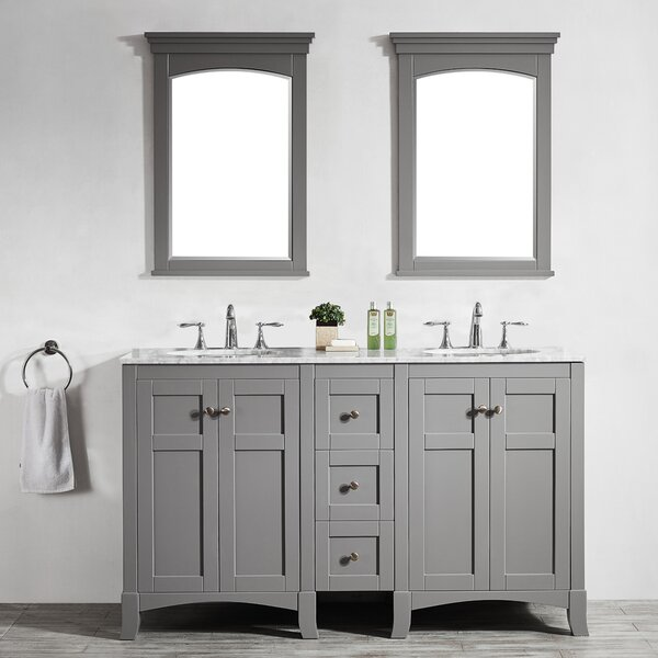 Manningtree 60 Double Vanity Set with Mirrors by Highland Dunes