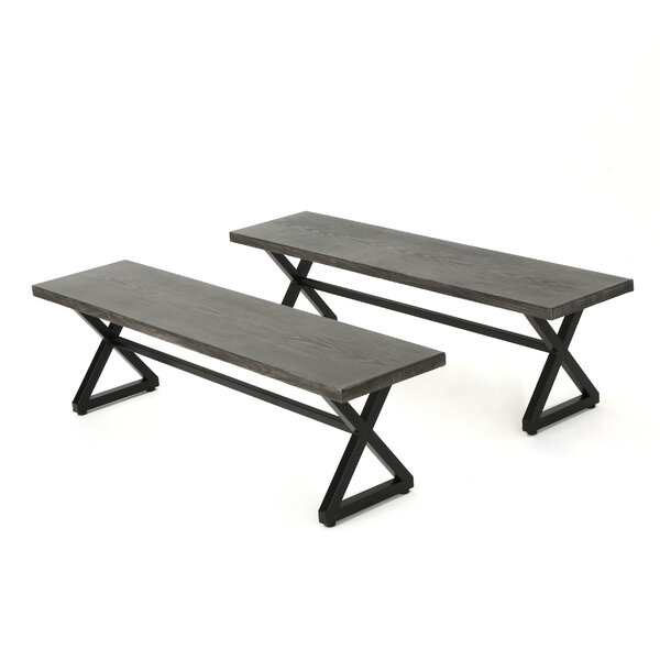 Lal Modern Outdoor Aluminum Picnic Bench by Union Rustic