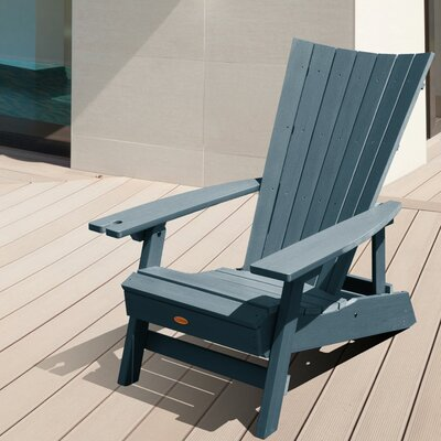 Pifer Plastic Folding Adirondack Chair Color: Nantucket Blue