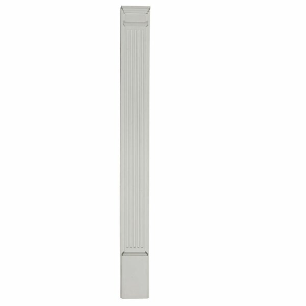 96H x 5W x 2D 2D Fluted Pilaster Capital by Ekena Millwork