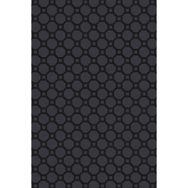 Wrington Hand-Woven Black Area Rug by Brayden Studio