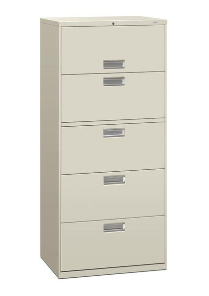 Brigade 600 Series 5-Drawer Vertical Filing Cabinet by HON