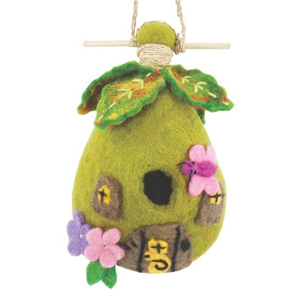 Fairy Felt 9 in x 5 in x 3 in Birdhouse by Global Crafts