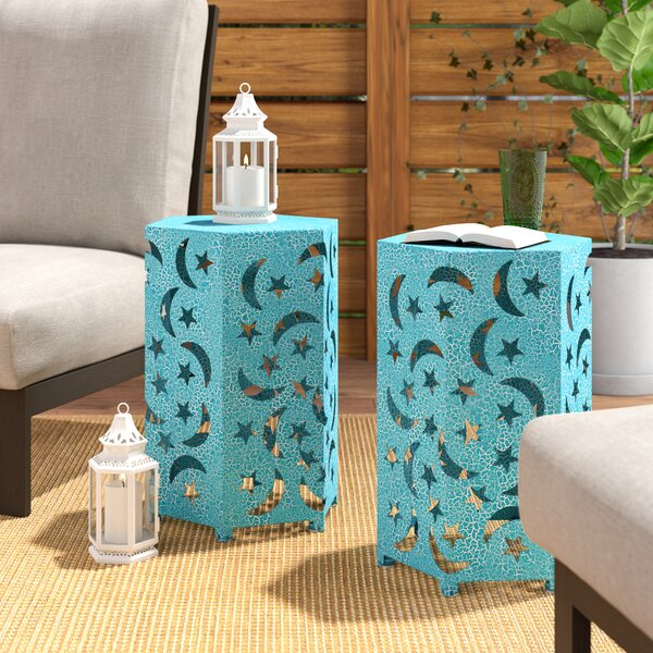 Antoinette Iron Side Table (Set of 2) by Bungalow