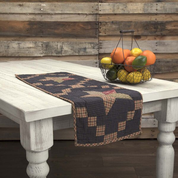 Crosby Classic Americana Tabletop & Kitchen Patchwork Star Quilted Runner by August Grove