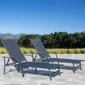 armando outdoor chaise lounge set of 2