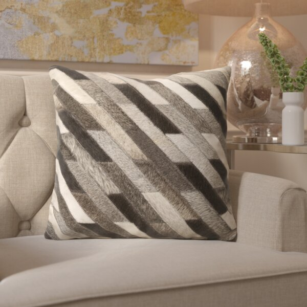 Gertrud Traditional Leather Throw Pillow by Willa Arlo Interiors