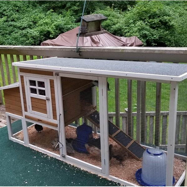 Multi-Level Wooden Chicken Coop by ALEKO