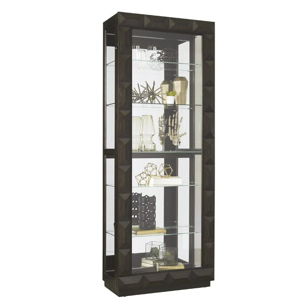 Greenberry Lighted Curio Cabinet by Ivy Bronx