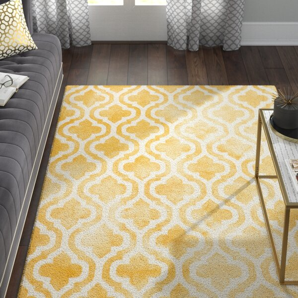 Merseles Hand-Tufted Gold/Ivory Area Rug by Willa Arlo Interiors