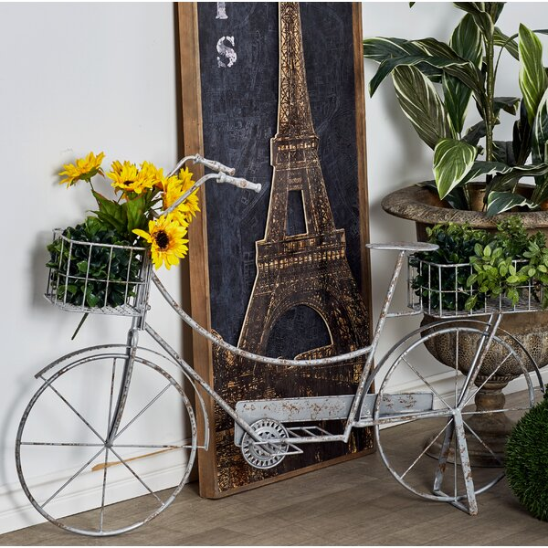 Rustic Bicycle Planter Box with Stand by Cole & Grey