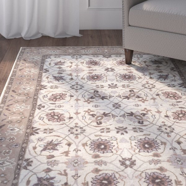 Vickers Ivory/Gray Area Rug by Alcott Hill