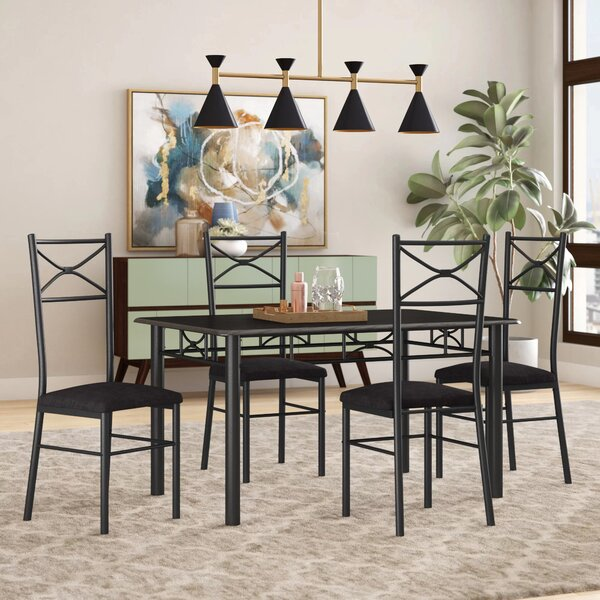 Geraldine 5 Piece Dining Set I by Zipcode Design