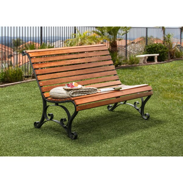 Simply Slatted Outdoor Garden Bench by Hokku Designs