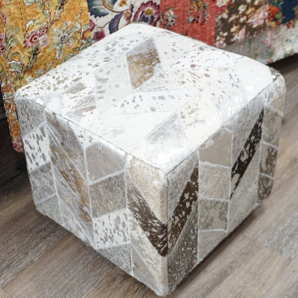 Virginia Leather Cube by Millwood Pines