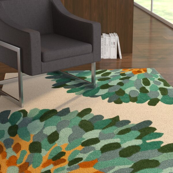 Kuhl Hand-Tufted Teal/Gray Area Rug by Latitude Run