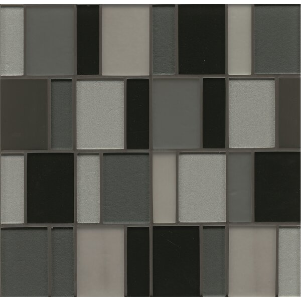 Remy Glass 12 x 12 Mosaic Brick Blends Tile in Evanston by Grayson Martin