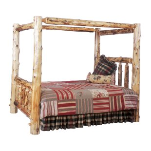 Price comparison Traditional Cedar Log Canopy Bed by Fireside Lodge