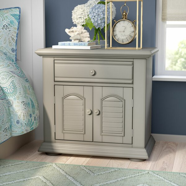 Edison 1 Drawer Nightstand by Beachcrest Home
