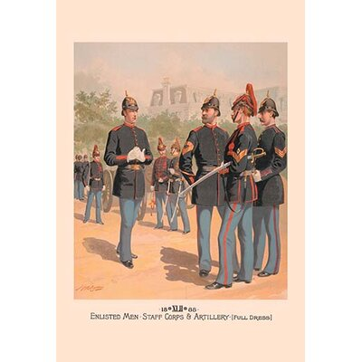 Buyenlarge Enlisted Men Staff And Artillery Full Dress By H A Ogden Painting Print Wayfair