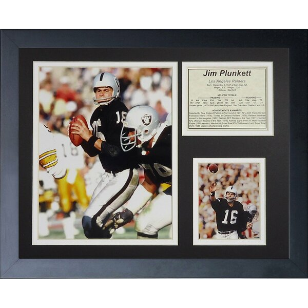 Jim Plunkett Framed Photographic Print by Legends Never Die