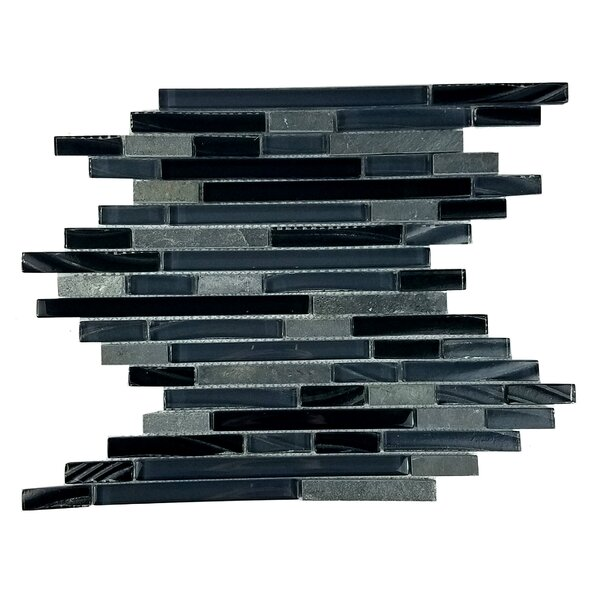 New Era II Random Sized Glass Mosaic Tile in Black Hole by Abolos