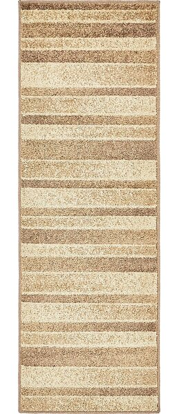 Bryan Beige Striped Area Rug by Ebern Designs