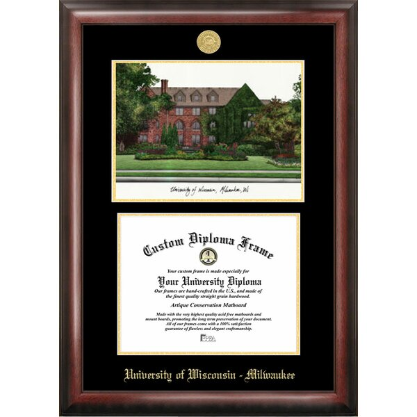 NCAA Wisconsin University, Milwaukee Diploma Lithograph Picture Frame by Campus Images