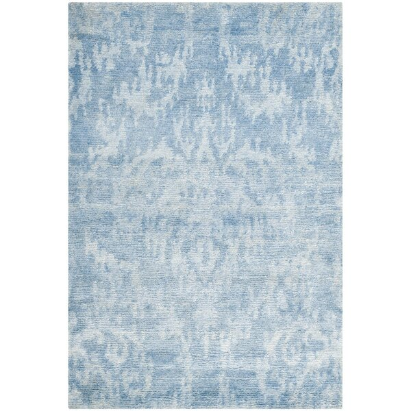 Armbrust Hand-Knotted Blue Area Rug by Bungalow Rose