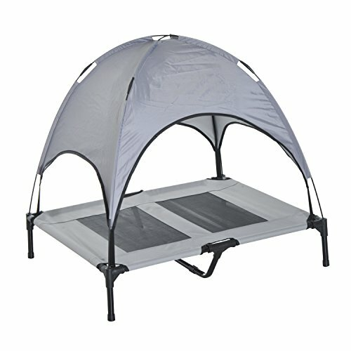 Cot Elevated Cooling Dog Bed with Canopy Shade by