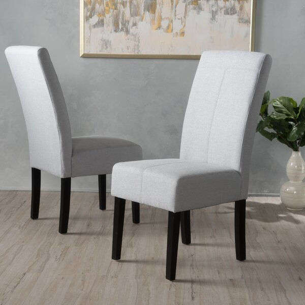 #2 Olin Upholstered Dining Chair (Set Of 2) By Alcott Hill 2019 Sale