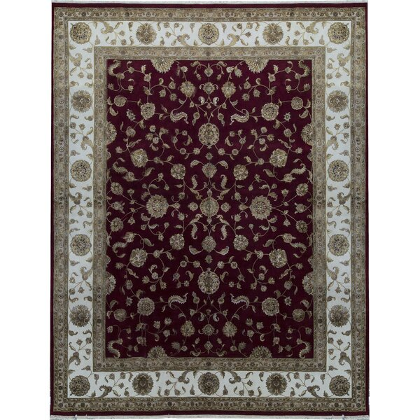 One-of-a-Kind Hand-Knotted Red 12' x 15'3 Area Rug